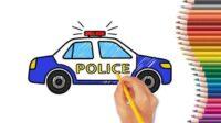Cara Gambar Mobil Polisi