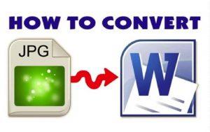 Cara Convert JPG ke Word