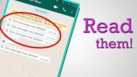 Cara Membaca WhatsApp yang Sudah Dihapus